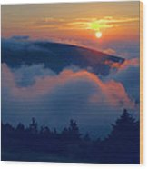Blue Hill Sunset - Acadia Wood Print