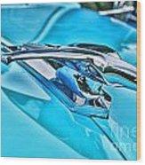 Blue Hood Ornament-hdr Wood Print