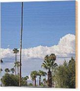 Blue Horizon Palm Springs Wood Print