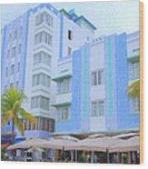 Blue Hotels Wood Print