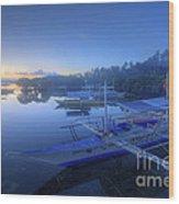 Blue Hour At Panglao Port Wood Print
