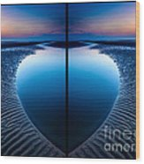 Blue Hour Diptych Wood Print