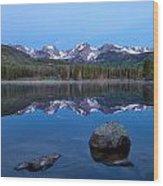 Blue Hour On Sprague Lake Wood Print