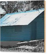Blue House  Wood Print by Bobby Mandal