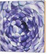 Blue Hue Whirlpool Wood Print