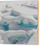 Blue Ice Of Madeline Island Wood Print