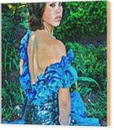 Blue Ice Princess Wood Print