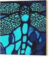 Blue Imitation  Wood Print