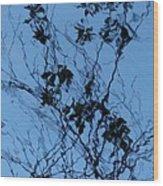 Blue Ink Wood Print