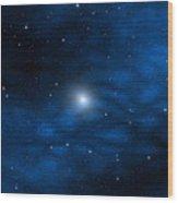 Blue Interstellar Gas Wood Print