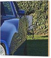 Blue Javelin Fender Wood Print