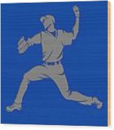 Blue Jays Shadow Player1 Wood Print