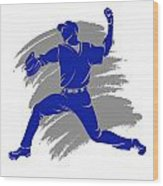 Blue Jays Shadow Player2 Wood Print