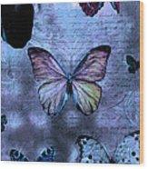 Blue Jean Baby Wood Print