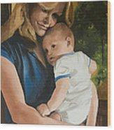 Blue Jean Madonna Wood Print