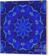 Blue Kaleidoscope  Wood Print
