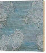 Blue Lace Wood Print