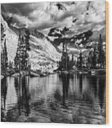 Blue Lake Wood Print