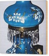 Blue Lamp Wood Print