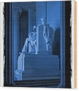 Blue Lincoln Wood Print