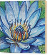 Blue Lotus Wood Print