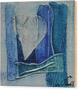 Blue Love 11 Wood Print
