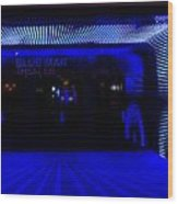 Blue Man Group Theater Wood Print