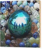 Magic Blue Marble Wood Print