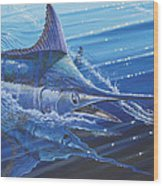 Blue Marlin Strike Off0053 Wood Print