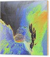 Blue Mars Wood Print