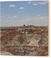 Blue Mesa - Painted Desert Wood Print