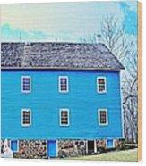 Blue Mill Historic Walnford Mill  Wood Print