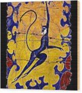 Blue Monkey No. 13 Wood Print