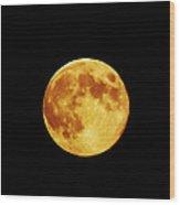 Blue Moon 3 Wood Print