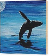 Blue Moon II - Right Side - Acrylic Wood Print