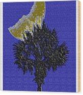 Blue Moon Over Palmetto  Wood Print