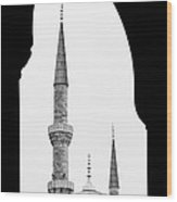 Blue Mosque 01 Wood Print
