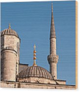Blue Mosque 02 Wood Print