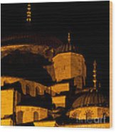 Blue Mosque At Night 02 Wood Print