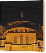 Blue Mosque At Night 03 Wood Print