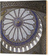 Blue Mosque Dome Wood Print