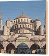 Blue Mosque Domes 01 Wood Print