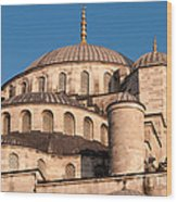 Blue Mosque Domes 05 Wood Print