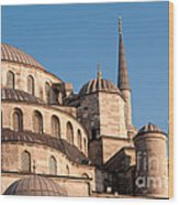 Blue Mosque Domes 08 Wood Print
