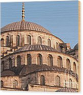 Blue Mosque Domes 09 Wood Print