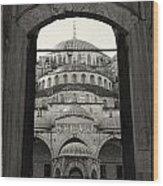 Blue Mosque Entrance Wood Print