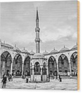 Blue Mosque Minaret Wood Print
