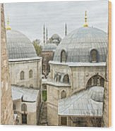 Blue Mosque View From Hagia Sophia Wood Print