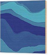 Blue Motion Wood Print