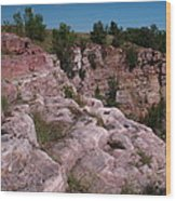 Blue Mounds Quarry Wood Print